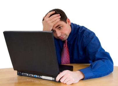 Image result for disappointed on laptop