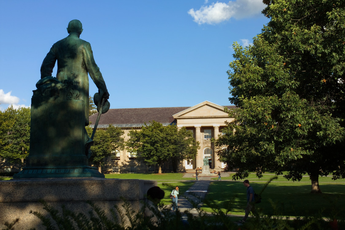 arts quad with statue 2