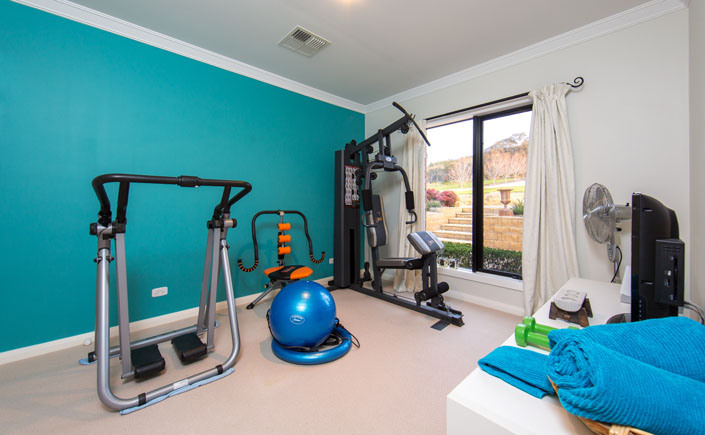 bedroom to gym