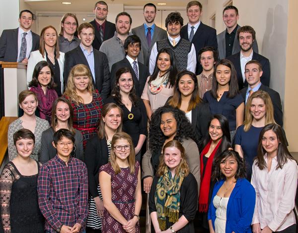 Senior Leadership Award winners, Class of 2015, Kalamazoo College.  Copyright Anthony Dugal