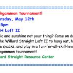 Denice Cassaro to Host Backgammon Tournament for Both Students Not Attending Slope Day