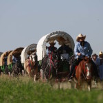 Big Red Wagon Train Headin' Out West