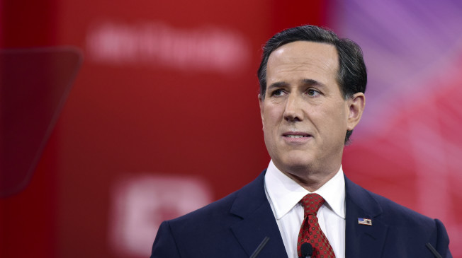 Former United States Senator Rick Santorum (Republican of Pennsylvania) speaks at the Conservative Political Action Conference (CPAC) at the Gaylord National at National Harbor, Maryland on Friday, February 27, 2015. Credit: Ron Sachs/CNP - NO WIRE SERVICE - Photo by: Ron Sachs/picture-alliance/dpa/AP Images