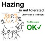 University: Hazing OK When It's, Like, A Tradition