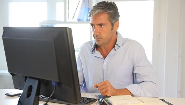 Worker on Computer