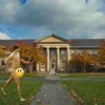 Guy Streaking Arts Quad Has Normal Dick