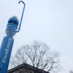 New Blue Lights on Campus Actually Two Week Art Installation