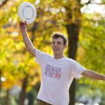White People Playing Frisbee on Arts Quad Marks Return of Ithaca Spring