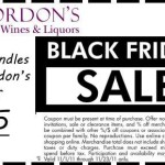 Gordon's Coupon: Black Friday Blowout!